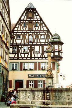 Herterich's Well & Jagstheim House - Rothenburg, Germany