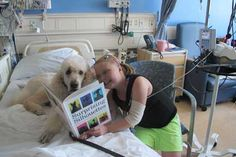The UCLA People-Animal Connection is partnering with Reading is the Way Up to provide PAC volunteers with books to read to and leave with our pediatric patients. Check out Apollo and our young patient enjoying a story together!
