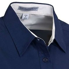 Port Authority L608 Women's Navy Easy Care Button Up Woven Shirt