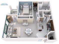 Custom paint colors? no problem.  Floor Plan Imaging does 3D floor plans right!