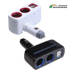 Dual USB Port Cigarette Lighter Socket