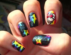 Super Mario Nails <3 Very cool