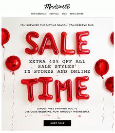 Madewell : Sale Typography