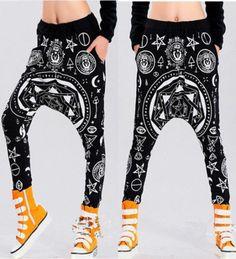 New Womens Harajuku Style Harem Baggy Hip Hop Dance Sport sweat Pants Trousers | eBay