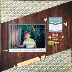 Paper pack by: Chickaniddy - 365 Studio Calico - Wood Veneer die-cuts Shimelle - wood veneer borders