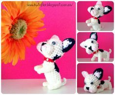 Arts and crafts Kutxiflor: French Bulldog amigurumi.scroll down for english Mini Bulldog, French Bulldog, Crochet Crafts, Crochet Toys, Crochet Projects, Amigurumi Doll, Amigurumi Patterns, Crochet Patterns, Patron Crochet