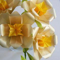 Golden Roses - Origami Paper Flowers, from NikkiCrossApplesauce