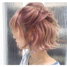 Funky Colored Wigs - Affordable Wigs In Various Colors, Up To Off Ombre Hair, Pink Hair, Pink Short Hair, Messy Hairstyles, Pretty Hairstyles, Cut My Hair, Hair Cuts, Cabelo Inspo, African Hairstyles