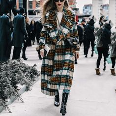 Vintage Plaid Overcoat Winter Coat Women Office Ladies Street Fashion Brand Long Outerwear Coats Plus Size Casual OL Autumn 2019 - Brown XXL Winter Coats Women, Coats For Women, Fall Coats, Stylish Outfits, Fashion Outfits, Womens Fashion, Fall Fashion, Girl Outfits, Street Fashion