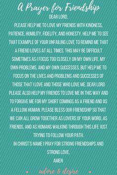 A Prayer for Friendship