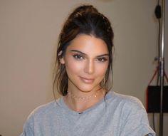Kendall Jenner soft glam effortless and natural makeup