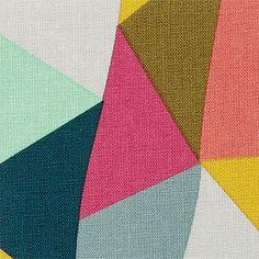 Baumwolle m/Dreiecken Pink/Mint/Braun