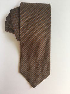 b0191ee1a224 Men Tie Cole Haan Blue Brown Stripe Geometric Silk KA26 #fashion #clothing  #shoes