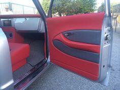 70 Chevy Truck grey silver red black custom interior door panels dash