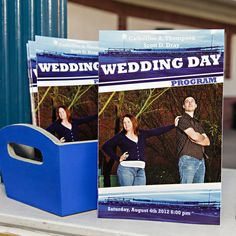50 Wedding Program Sports Team Schedule Thank You by CuttingItUp, $150.00