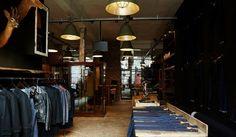 WOODEN STORE INTERIORS! Good Genes store, studio, showroom, Amsterdam fashion