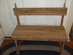 Tobacco+Stick+Craft+Ideas | Tobacco stick bench! www.facebook.com/diddlebugbowtique | Craft Ideas