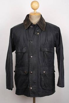 BARBOUR Bedale Wax Jacket Navy Size 38