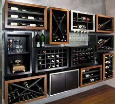 great idea for wine bottle storage..