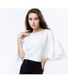 Impress London white round collar cape blouse A0798