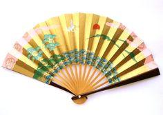Paper  Fan  Vintage Japanese Fan  Sensu Hand  by VintageFromJapan