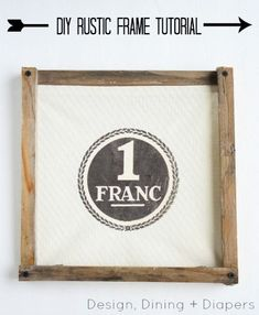 DIY Rustic Wood Frame tutorial and custom canvas print.