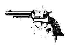Spray Revolver Royalty Free Stock Vector Art Illustration