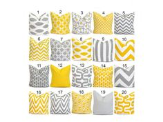 Pillow Cover.Yellow Pillow.Decorative Pillow by ElemenOPillows