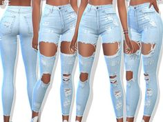 Clothing: Ripped Denim Jeans 049 by Pinkzombiecupcakes from The Sims Resource . - Clothing: Ripped Denim Jeans 049 by Pinkzombiecupcakes from The Sims Resource The Sims 4 Pc, Sims Four, Sims Cc, Denim Jeans, Ripped Denim, Jeans Pants, Sims 4 Mods Clothes, Sims 4 Clothing, Sims 4 Toddler Clothes