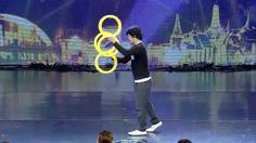 Incredible Contact Ring Juggling - Magic Rings Illusion at Thailand's Go...