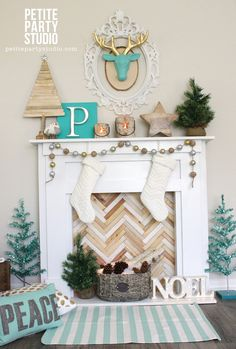 DIY Holiday Mantle by Petite Party Studio. Plans from ana-white.com