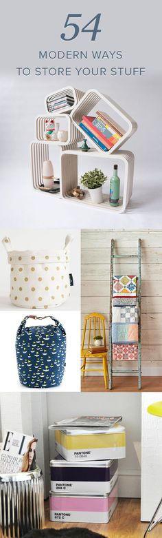 Stylish Ways to Put Stuff Away - 54 Modern Ideas for Storage that are perfect for spring cleaning and back to school