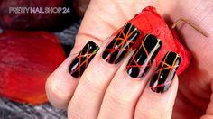 """#trendstyle  #stars #firered #nailart Trendstyle: Feuerrot """"Firework"""" Feuerrote Fingernägel sorgen immer für Aufsehen. Wie toll der knallige Look auf Euren Nägeln wirken kann, seht Ihr in diesem Video. Lasst Euch von dem verführerischen Trend begeistern. Hier findet Ihr alle verwendeten Produkte: http://www.prettynailshop24.de/shop/trendstyle-farbe-feuerrot-video_522.html#Produkte"""