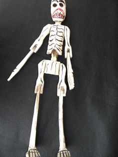 1940's Day of the Dead Skeleton Large 22 Inch by exploremag