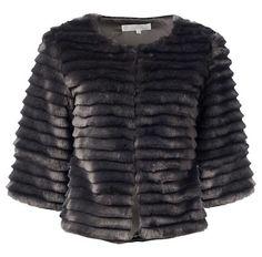 YaYA Faux Fur Jacket Faux Fur Jacket, Fur Coat, Fake Fur, Confident Woman, Mixing Prints, White Tees, Catwalk, Perfect Fit, Black Jeans
