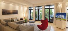 Appartement 018 | Strandvillen Sellin Rügen Curtains, Projects, Home Decor, Homes, Log Projects, Blinds, Blue Prints, Decoration Home, Room Decor