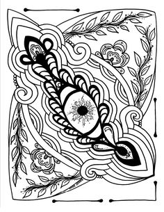 Pin by Anna Claar on Therapeutic coloring pages | Pinterest