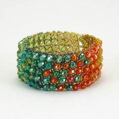 Bead Jewelry PDF Pattern Window Pane Bracelet by 1beadweaver, $4.00