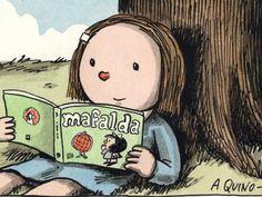 Dos lectoras (ilustración de Liniers)