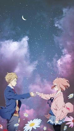 Anime Beyond the Boundary Kyoukai No Kanata Mirai Kuriyama Mobile Wallpaper Anime Naruto, Anime Cupples, Anime Love Couple, Cute Anime Couples, Anime Cosplay, Good Anime Series, Anime Lindo, Comedy Anime, Animes Wallpapers