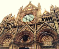 Stunning view of the front of the Duomo, Siena