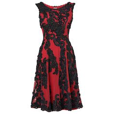 Buy Phase Eight Callula Fit and Flare Dress, Ruby/Black Online at johnlewis.com