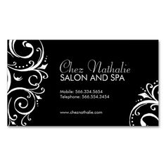 Elegant Black and White Business Cards created by colourfuldesigns. This design is available on several paper types and is totally customizable. Spa Business Cards, Business Holiday Cards, All You Need Is, Massage Business, Standard Business Card Size, Write It Down, Get The Job, Card Templates, Black And White
