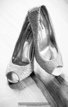 Brides Wedding Shoes - Bridal Preparation Photographs - Graham Baker Photography