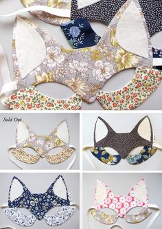 Fox mask- at first I thought these were some sort of funny bras! LOL Actually they're great masks