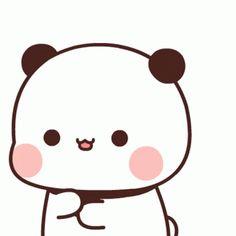 Cute Bunny Cartoon, Cute Cartoon Images, Cute Love Cartoons, Panda Gif, Panda Bear, Bear Gif, Chibi Cat, Little Panda, Cute Bears
