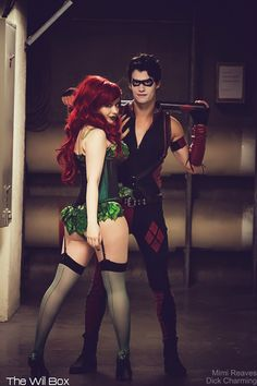 Mimi Reaves as Poison Ivy Dick Charming as GenderBent Harley Quinn Photo by The Will Box Batman Cosplay, Superhero Cosplay, Epic Cosplay, Harley Quinn Cosplay, Cosplay Dress, Amazing Cosplay, Poison Ivy Cosplay, Poison Ivy Costumes, Couples Cosplay