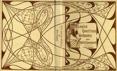 "Jan Theodoor Toorop (1858-1928),  cover designer. ""Louise Geertsma Verheulen"" by Netty Spanjaard. 1900."