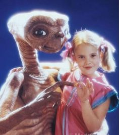 E.T. and Gertie. Is he a pig? He sure eats like one! That was my favorite line in the movie when I was little.
