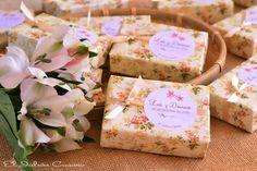 Detalles de boda romántica jabones naturales florales. Consultas y encargos: eljaboncasero@gmail.com